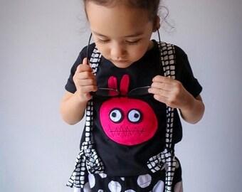 mi cielo x Matthew Langille - Bunny Monster – Black Kids T-Shirt – Boys or Girls