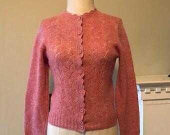 Rosebud Cozy Vintage Wool Cardigan Sweater