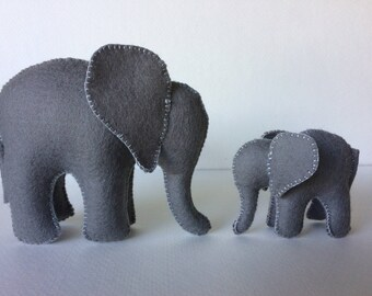 Elephants, Mama and Baby, Elephant Family, Waldorf Toys