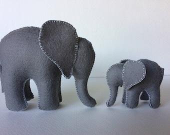 Elephants, Mama and Baby, Elephant Family, Waldorf Toys