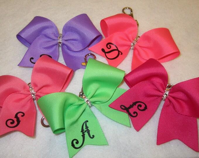 Cheer Bow Keychain, Backpack Keychain, Purse Key Chain, Girls Keychains, Bow Keychain, Gifts for girls, Team Gifts, Mini Cheer Bow Keychain