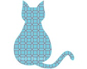 Sitting cat applique template | PDF applique pattern | applique template