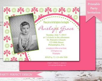 Spring Baptism First Communion Announcement - Print Your Own