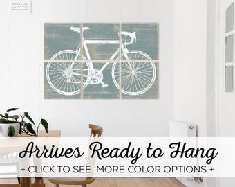Vintage Bicycle Art Prints! Our Stylish Cycling Wall Art is Available in 2 sizes and over 25 color options