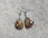 Small light Boulder Opal earrings - earthy & natural stone jewelry handmade in Australia by NaturesArtMelbourne