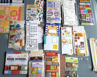 Scrapbook Sticker Grab Bag, Scrapbooking Themed Stickers, Scrapbooking Stickers, Scrapbook Supplies, Scrap Book Stickers - Hundreds!