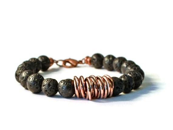 Lava Rock Amp Antique Copper Aromatherapy Diffuser Bracelet