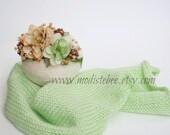 RTS... Mint Newborn Wrap and Headband Set... Photography prop