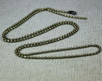 free UK postage - Pack of 4 Antique bronze ball chain, necklace