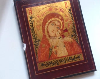 Madonna and Child wood icon