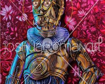 Star Wars Victorian C3P0  - Print