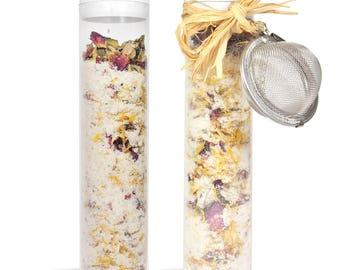 4 oz Luxurious Bath Salt - Chamomile Epsom Salts, Dead Sea Salts, Calendula & Rose Petals, Buttermilk Powder and More