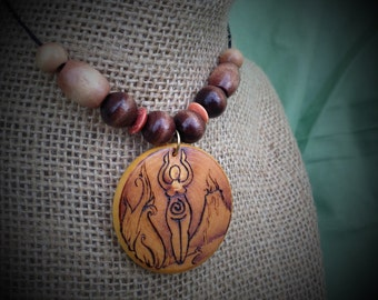 Spirit of Fire Pendant with Accent Beads