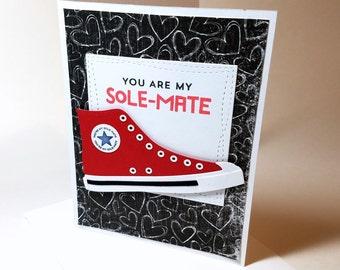 Anniversary Card, Card for Him, Card for Her, Love, Card, High Tops, Chuck Taylor, Soulmate, Card for Friend, BFF, I Love You, Converse