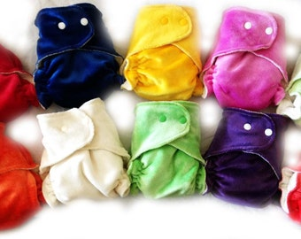 BAMBOO VELOUR Lushies Nappy- Newborn-6 months approx