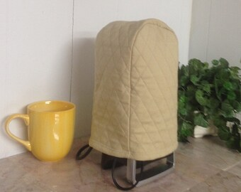 Tan Quilted Kitchen Can Opener Small Appliance Cover Ready to Ship Next Busijness Day