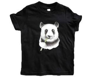 kids panda tshirt - panda shirt - panda bear shirt - animal shirt - kids panda shirt - boy panda