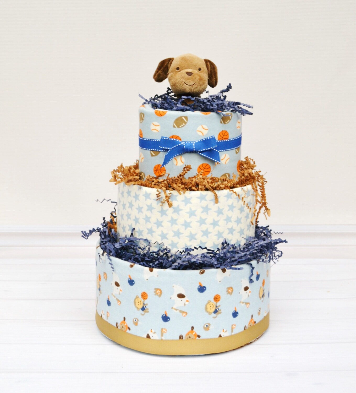 Boy Shower Cake, Sports Baby Shower, Sports Theme Baby Gift, Boy Baby  Shower Gift, Baby Boy Diaper Cake, New Baby Gift, Baby Shower Gift