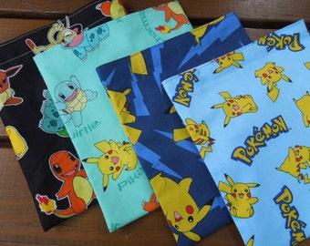 Reusable sandwich bag and/or reusable snack bag - Reuse sandwich bag -Reusable snack bag-Pick your favorite Pokemon/Pikachu - Pls read notes