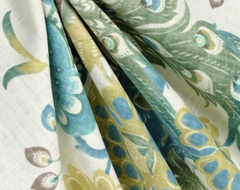 Richloom preen aquamist curtain panels, extra long drapes, custom drapes, Designer drapes,