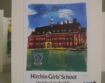 Hitchin Prints Card: Hitchin Girls School