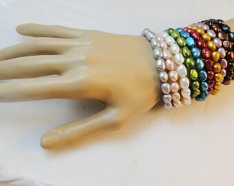 10 Ten Bracelets Cultured Pearls NiB Mandarin
