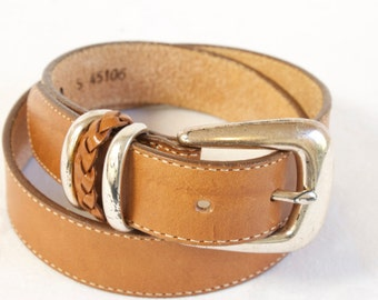 Vintage toffee brown Brighton Leather Belt size small