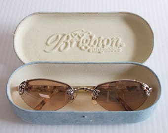 Vintage Brighton eyeglasses sunglasses metal frame with case - Tortoise shell frame