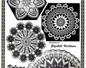 Crocheters Dream by Elizabeth Hiddleson Volume 23 Doilies Pineapple Filet Roses Butterfly Bird  Diamonds Vintage 1970s Craft Pattern Leaflet