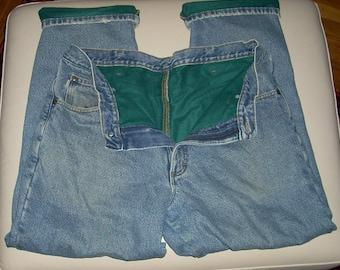 Vintage LL Bean Double L Flannel Lined Men's Jeans 35x30