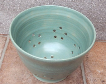 Berry bowl or colander hand thrown stoneware ceramic pottery