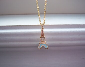 Eiffle Tower Necklacce - Paris Necklace - Eiffle Tower And Bow Necklace -Free Gft Wth Purchase