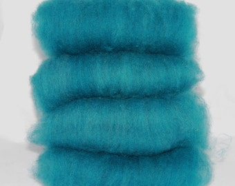 Shetland Turquoise Spinning Batts - 4 ounces