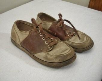 Vintage Child Size Saddle Shoes