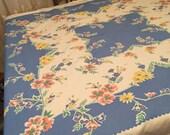 "Beautiful Vintage Tablecloth 45"" x 52"""