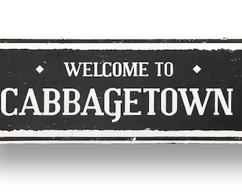 Cabbagetown 6 x 23 rustic wooden sign by Go Jump in the Lake