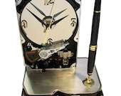 Pen Holder Hard Drive Clock. Cool Office Gift, Teacher Gift, Techie Gift, Business Award. FREE SHIPPING USA!
