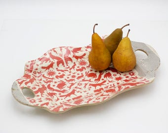 Ceramic tray - Serving platter - Ceramic Platter - Serving Dish - Decorative Bowl - Fruit Bowl - Home Decor - Housewarming gift