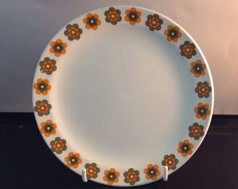 Jessie Tait for Midwinter three Sunglow Side Plates, Vintage Retro Kitchenalia