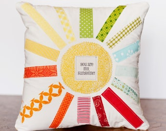 Handmade Rainbow Colored Decorative Throw Pillow-Accent Pillow