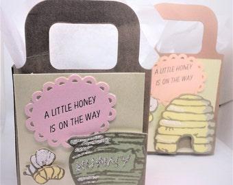 Bee favor box - set of 4
