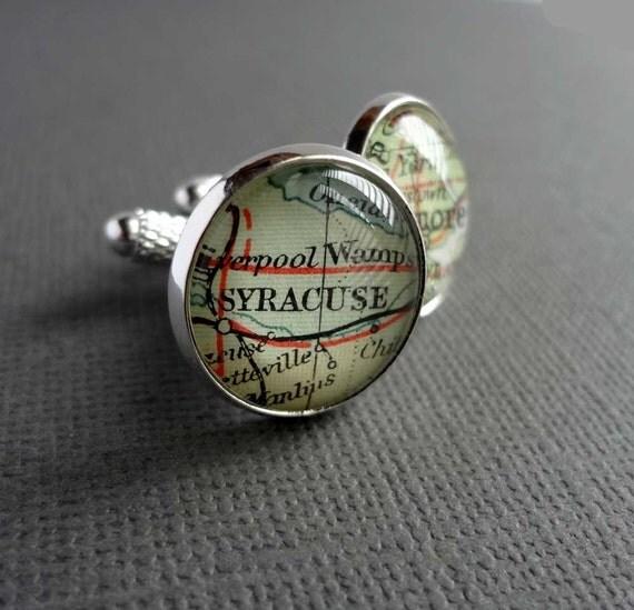 Boyfriend Gift, Personalized Gift, Husband Wedding Gift, Map Jewellery, Bronze Cuff Links, Personalized Map Cufflinks