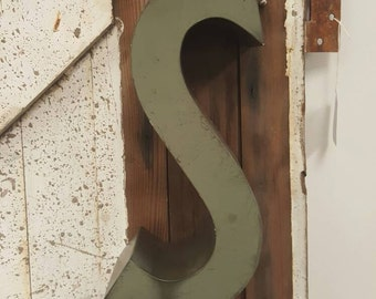 Old Metal Sign Letter - S - Industrial Salvage Channel Letter
