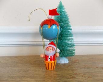 Vintage Avon Santa Ornament, Wood Ornament, Christmas Ornament, Gallery Originals, Vintage Avon, Hot Air Balloon, Santa Claus, Handpainted