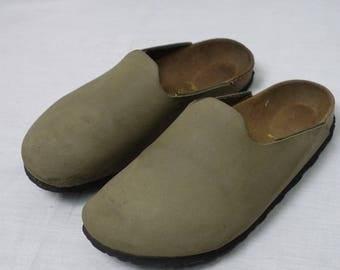 Vintage AMSTERDAM SLIP-ON Mule Birkenstock Clog Shoe Sz-37 Sandal