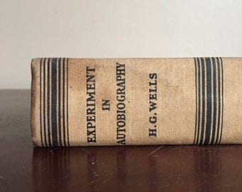 Holiday Sale. 1934 First Edition. Experiment in Autobiography. H. G. Wells.