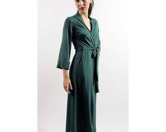 womens long robe - GEM bamboo sleepwear range - made to order