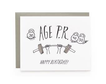 Age P.R. - letterpress card