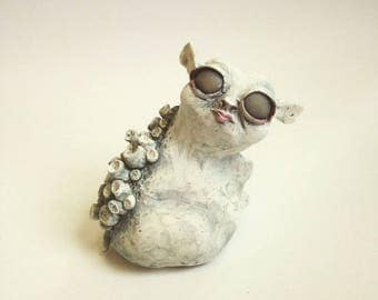 Polymer clay Creature Animal Sculpture