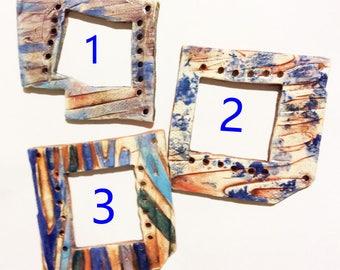 Pottery for Weaving Window rectangular loom style, Orange Purple Blue Green Choice